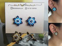 Step-by-step mustard star earrings Beaded Jewelry Patterns, Beading Patterns, Star Earrings, Beaded Earrings, Diy Bracelets Video, Beading Tutorials, Beaded Flowers, Beautiful Earrings, Handmade Jewelry