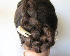 Antler Hair Pin Fork Stick Deer Horn Hair Piece/ by JCMcCairn, $42.00