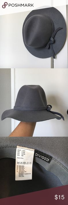 Grey 100% Wool floppy Hat Size large/ 58. Super cute and barely worn, I got one in black that I wear more and don't need two! H&M Accessories Hats