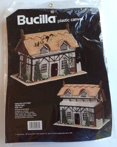 Bucilla Plastic Canvas English Cottage Recipe Box Designed by Dick Martin | eBay