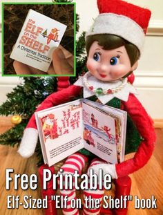 Elf-sized miniature Elf on the Shelf book for your elf or Barbies.