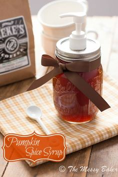 Homemade Pumpkin Spice Syrup www.themessybakerblog.com | Add fall flair to your coffee!