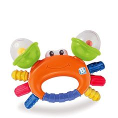 Great audio and tactile stimulation response for growing infants. Contains a secure carry handle design. • https://tinytotsbabystore.com/product/bkids-sand-crab-rattleteether/?utm_content=buffer9b5c0&utm_medium=social&utm_source=pinterest.com&utm_campaign=buffer