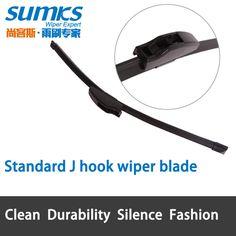 """Gancho J estándar cuchilla de limpieza de 14 """"a 28"""" brazos del limpiaparabrisas hook relleno suave ajuste estándar sólo HY-002"""