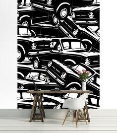 Pinterest  High Quality Wallpaper Printing.  PAPER VLIES (non vowen) VINYL  SELF ADHESIVE (peel & stick) LAMINATED Vibrant Colors, Colours, Black And White Wallpaper, High Quality Wallpapers, Retro Cars, Designer Wallpaper, Retro Style, Retro Fashion, Latex