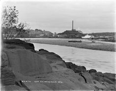 """The """"Big Mill"""" in Chippewa Falls in 1907. Actually named Chippewa Lumber Co or Boom Co. Located off of Court St. before the NSP Bridge in Chippewa Falls. Closed on Aug 2, 1911. Courtesy of Wisconsin Historical Society."""