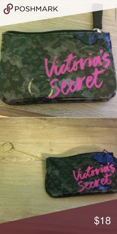 Adorable  Mini Case Absolutely adorable  Victoria's Secret  Black lack floral  design  Hot pink letters   Not Brand NEW  But NEVER used, just sitting in the closet.... Looking for a loving home. PINK Victoria's Secret Bags Cosmetic Bags & Cases