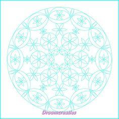 Download & print mandala for colorpainting nr 004 by Droomcreaties, €1.50