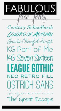 Ashley Ella Design: Fabulous Free Fonts  ~~ {10 free fonts w/ easy download links}