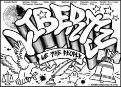 - Multicultural Graffiti Art -Free Printable Coloring Pages