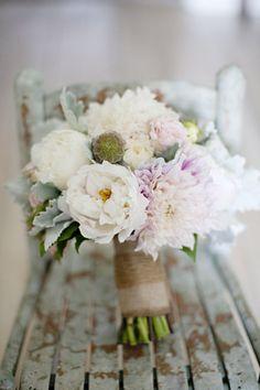Soft pink rustic romantic bouquet
