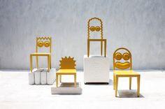 no soy fan de los Simpson, pero la simplificación de ellos en las éstas sillas está muy buena