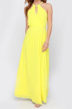 Bohemian V-Neck Sleeveless Solid Color Chiffon Dress For Women