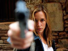 Annie's got a gun. Piper Perabo as Annie Walker in Covert Affairs. Via USA Network.