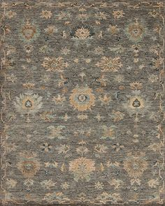 Harmony - Symphony - Samad - Hand Made Carpets Transitional Rugs, Home Rugs, Grey Rugs, Hand Spinning, Earth Tones, Floral Motif, Contemporary Style, Carpets, Traditional