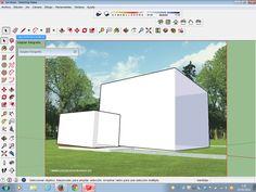 Modelo final de la fachada. Hecho en el formato SjetchUp.