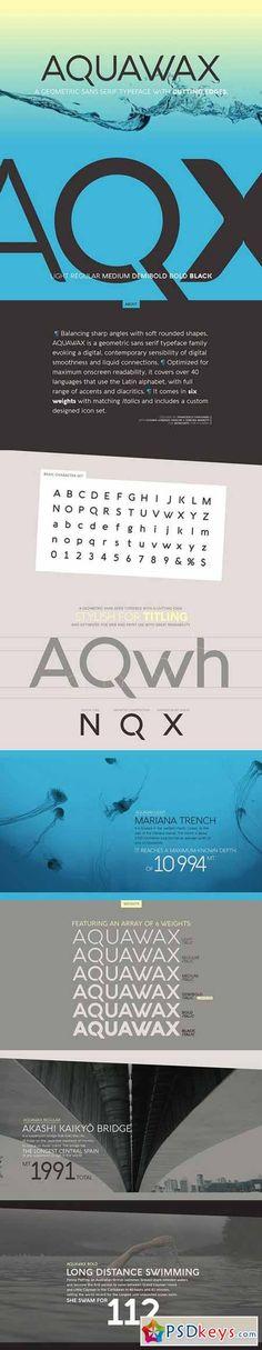 Aquawax Fonts