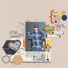 At The Moment | Digital Scrapbooking Elements | One Little Bird