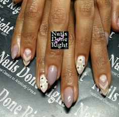 Stiletto nails OPI Don't Bossa Nova me around & Taupe-less beach