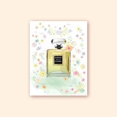 CHANEL/Coco Mademoiselle Chanel Paris/Pink by DiMoltiColori      #Coco #mademoisselle #Chanel #Paris #yellow #perfume #bottle #printable #fashion #wall #art #walldecor #vanity #gallery #french #girlie #decor #digital #print