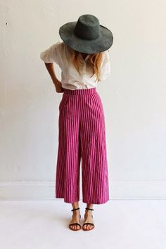 Update your pinstripe trousers for a new shape: the culotte as seen on Riches for Rags.