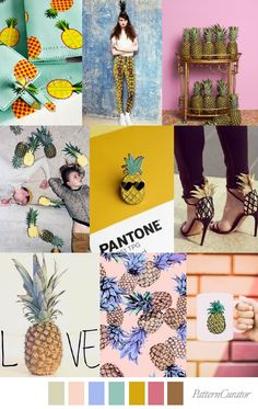 S/S 2018 pattern & colors trends: pineapple-pen