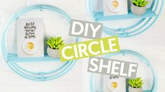 DIY Circle Shelf -- from embroidery hoops!
