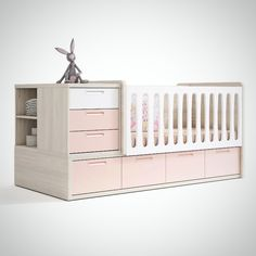 Cuna transformable - Catálogo UP16 #grupoexojo #babyroom #habitacion #bebe #up16