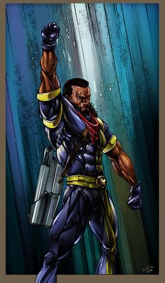 X-Men Bishop Fan Art, Gergő Kovács