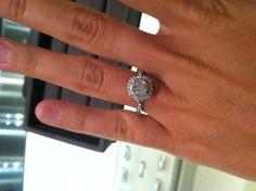 Tiffany Soleste. The ring. .48 carat.