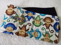 Puppy Dog Belly Band, Stop Marking with WeeWrap, Monkey Fabric,  Personalized