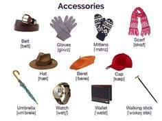 """""""Clothes & Fashion Accessories"""" Vocabulary in English: 100+ Items Illustrated – ESL Buzz"""