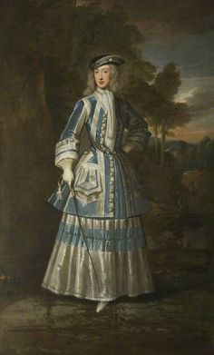 Henrietta Cavendish Holles (1694–1755), Countess of Oxford by Godfrey Kneller, 1714, wearing a riding habit