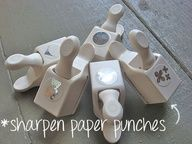 how to sharpen paper punches
