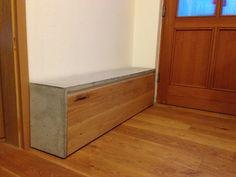 Schuhregal Beton-Holz
