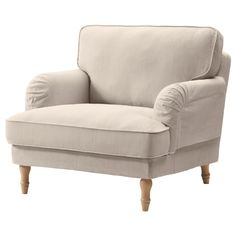 STOCKSUND Chair - Nolhaga light beige, light brown - IKEA