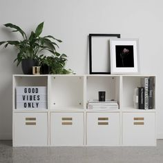 A luxe sideboard shelf to make even your thesaurus collection look cool. 34 Pieces Of Decor From Walmart Your Home Will Thank You For Office Decor, Home Office, Office Ideas, Slim Bookcase, Cube Shelves, Shelf, Interior Minimalista, Minimal Decor, Ergonomic Chair