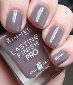 Rimmel Lasting Finish Pro Nail Enamel in Steel Grey Request your free #rimmel lip gloss now!