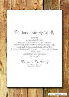 Gastgeschenke - Druck/Print: Geschenk zur Gold- und Silberhochzeit - ein Designerstück von DiePersoenlicheNote bei DaWanda