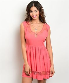 107-2-2-DED10231BC CORAL DRESS 3-2-1