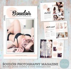 Boudoir Photography Magazine  8 Page Template  by PaperLarkDesigns