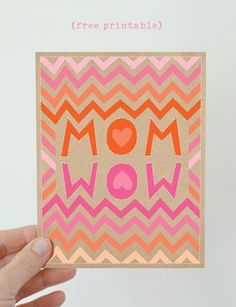 I love the Mom/Wow idea!