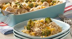 Chicken & Rice Casserole with Broccoli   Finally a recipe that doesn't ask you to use condensed soups. This is an easy, made from scratch, recipe that is both healthy and tasty. :)