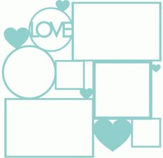 Silhouette Online Store - View Design #60038: love collage frame page mat
