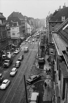 Neusser Straße U-Bahn Bau Cologne Germany, U Bahn, Times Square, Nostalgia, City, Castles, Gardens, Travel, History