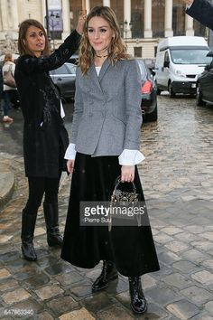 Olivia Palermo arrives at the Elie Saab show as part of the Paris Fashion Week Womenswear Fall/Winter 2017/2018 on March 4 2017 in Paris France