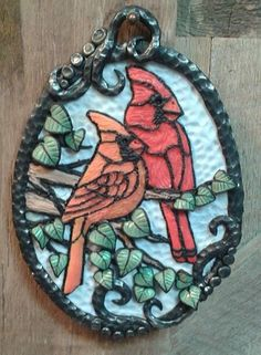 Week 3...Cardinals. I was inspired by my mom's stained glass cardinals with style inspired by Christi Friesen.