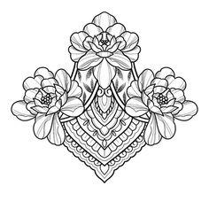 Floral Tattoo Design, Mandala Tattoo Design, Tattoo Designs, Gem Tattoo, Sternum Tattoo, Body Art Tattoos, Tattoo Drawings, Sleeve Tattoos, Devine Tattoo
