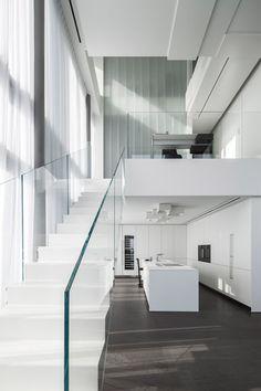 Pitsou Kedem Combines Four Apartments To Create Penthouse Home With Sculptural Wall Surfaces - http://decor10blog.com/decorating-ideas/pitsou-kedem-combines-four-apartments-to-create-penthouse-home-with-sculptural-wall-surfaces.html
