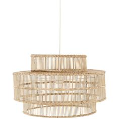 This three tiered Rain hanging Lamp has been hand made from Natural Rattan.
